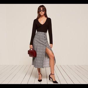 Reformation Veronica Skirt in Heather 0